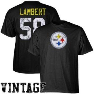 Reebok Pittsburgh Steelers #58 Jack Lambert Retired Legends Name & Number Vintage T shirt