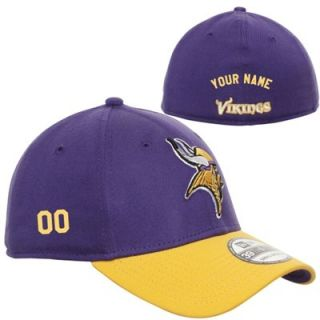 New Era Minnesota Vikings Mens Customized TD Classic 39THIRTY Structured Flex  Hat 04907fb6e