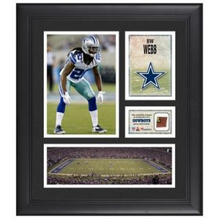 BW Webb Dallas Cowboys Framed 15 x 17 Collage with Game Used Football