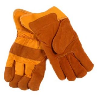 Jemcor Split Grain Cow Sherpa (BOA) Lined 3 In. Band Top Heavy Duty X Large Work Glove   Work Gloves