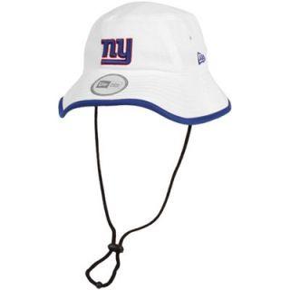 New Era New York Giants Training Bucket Hat   White