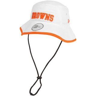 New Era Cleveland Browns Training Bucket Hat   White