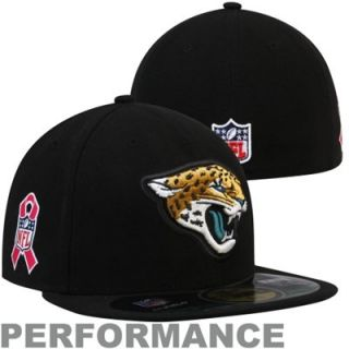 New Era Jacksonville Jaguars Breast Cancer Awareness On Field 59FIFTY Fitted Performance Hat   Black