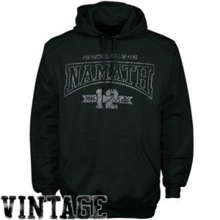 Joe Namath New York Jets Legendary Full Print Pullover Hoodie Sweatshirt   Green