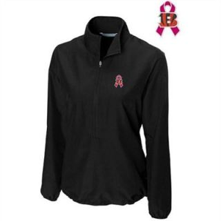 Cutter & Buck Cincinnati Bengals Womens Breast Cancer Awareness WeatherTec Post Game Half Zip Jacket