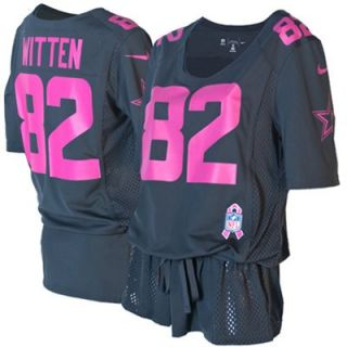 Nike Jason Witten Dallas Cowboys Ladies Breast Cancer Awareness Fashion Jersey   Anthracite