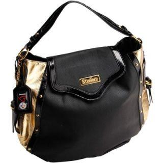 Pittsburgh Steelers Ladies Nikki Chu Suite Hobo Bag   Black