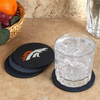 Denver Broncos 4 Pack Round Neoprene Coaster Set