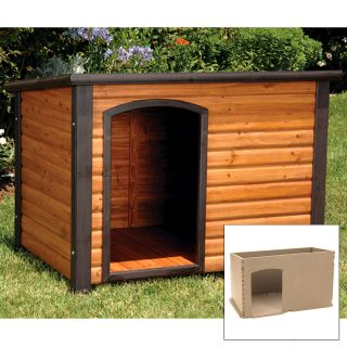 Precision Outback Log Cabin Dog House and Insulation Kit   Dog Houses