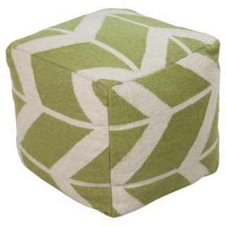 Surya 18 in. Corn Stalk Cube Wool Pouf   Ottomans
