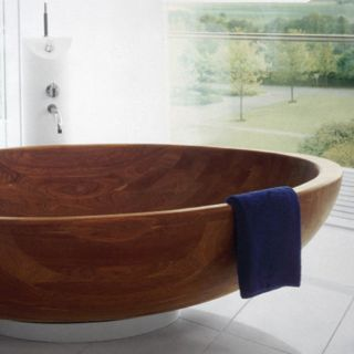 WS Bath Collections Madera M2 72 Inch Modern Wood Freestanding Tub   Freestanding Tubs