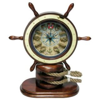 Infinity Instruments Catalina Traditional Desktop Clock   Desktop Clocks