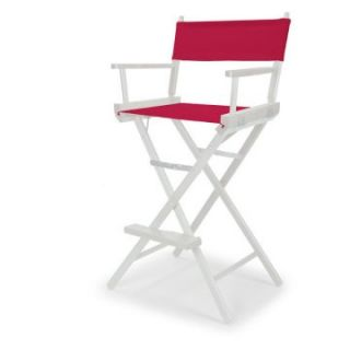 Celebrity II 29.5 in. Red Canvas Directors Chair   White Frame   Tall Directors Chairs