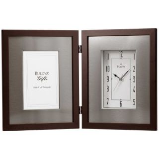 Bulova Winfield Desktop Clock with Frame   Desktop Clocks