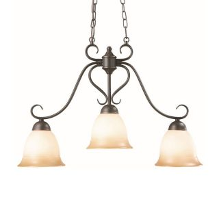 Design House 512699 Cameron 3 Light Island Pendant   Oil Rubbed Bronze Finish   Ceiling Lighting