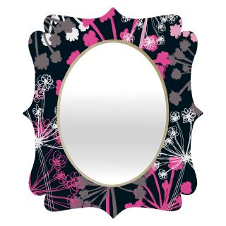 Deny Designs Rachael Taylor Cow Parsley Quatrefoil Mirror   Wall Mirrors