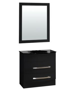 Yosemite Home Decor 31.5 in. Single Bathroom Vanity Set   Black   Single Sink Bathroom Vanities