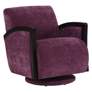 Lazar Amati Swivel Chair   Pace Plum   Accent Chairs