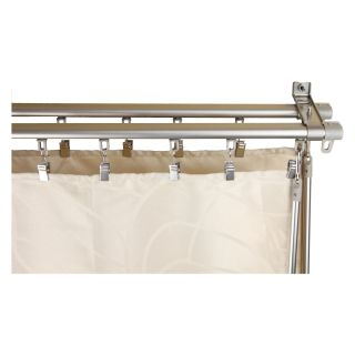 Rod Desyne Armor Curtain Track   Silver   Curtain Rods and Hardware