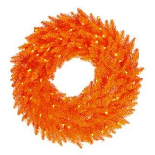 Vickerman Orange Fir Pre lit Wreath   Christmas Wreaths