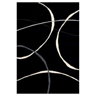Furniture of America Furniture of America Klark Simplicity Floor Rug   Black / White   5.25 x 7.5 ft.   Area Rugs