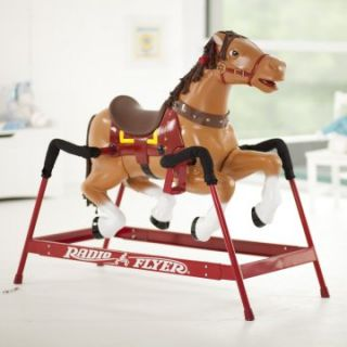 Radio Flyer Liberty Spring Horse with Sound Option   Rocking Horses