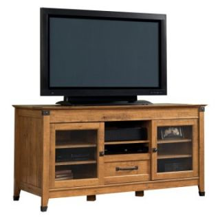 Sauder Registry Row Entertainment Credenza   Amber Pine   TV Stands