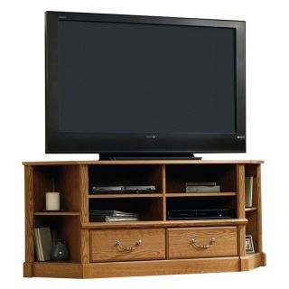 Sauder Orchard Hills Corner Entertainment Credenza   Carolina Oak   TV Stands