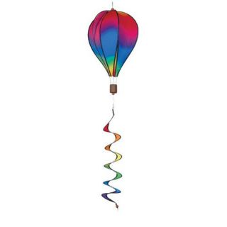Premier Designs 16 in. Hot Air Balloon Wavy Gradient Wind Spinner   Wind Spinners