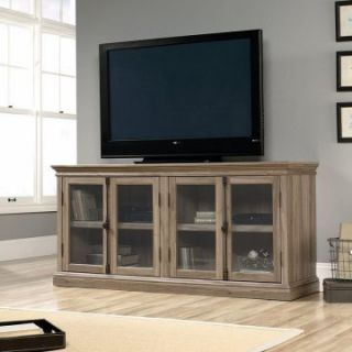 Sauder Barrister Lane Storage Credenza TV Stand   Salt Oak   TV Stands