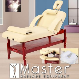 Master Massage 31 in. Montclair Stationary Pro Massage Table Package with MEMORY FOAM with FREE Accessories   Massage Tables