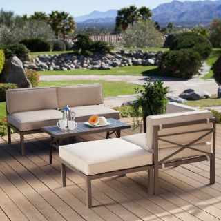 Coral Coast Bellagio 5 Piece Aluminum Sectional Sofa Set   Conversation Patio Sets