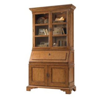 Lexington Twilight Bay Colette Secretary Desk with Hutch   Saddle Brown   Writing Desks