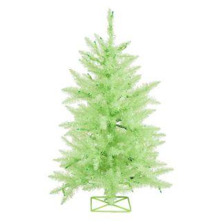 Vickerman 3 ft. Chartreuse Pre lit Christmas Tree   Christmas Trees