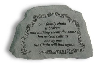 Our Family Chain Is Broken Memorial Accent Stone   Garden & Memorial Stones