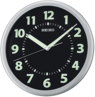 Seiko Glow in the Dark QXA435SLH 10.25 in. Wall Clock   Wall Clocks