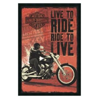 Harley Davidson   Live to Ride Framed Wall Art   25.41W x 37.41H in.   Framed Wall Art