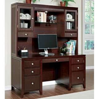 Martin Home Furnishings Curt Christian Grove Credenza Computer Desk with Optional Hutch   Computer Desks