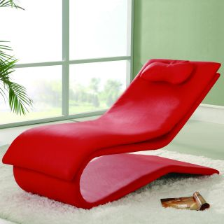 Garvey Microfiber Red Chaise Lounge   Indoor Chaise Lounges
