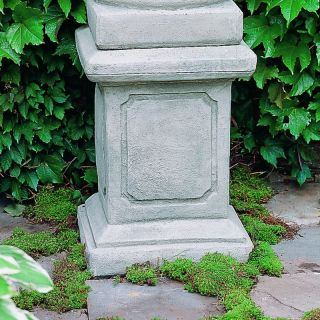 Campania International Large Square Frame Cast Stone Pedestal For Urns and Statues   Garden Decor