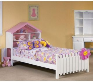 Lily Dollhouse Twin Bookcase Bed