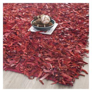 Safavieh Leather Shag LSG511D Area Rug   Red   Modern Area Rugs