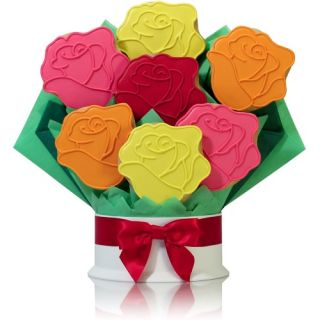 Corso's Cookies Rainbow Roses Cookie Bouquet   Gift Baskets by Occasion
