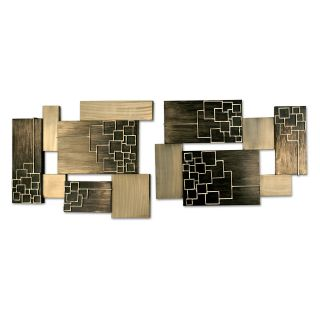 Nova Schematics Metal Wall Art   Set of 2   Wall Sculptures and Panels