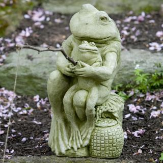 Campania International Gone Fishin' Frogs Cast Stone Garden Statue   Garden Statues