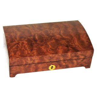Domed Lid Wooden Jewelry Box   8.75W x 3H in.   Womens Jewelry Boxes