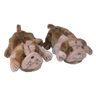 Comfy Feet Bulldog Animal Feet Slippers   Mens Slippers