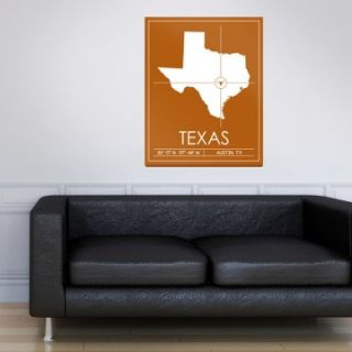University of Texas Map Wall Art   DO NOT USE