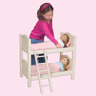 Guidecraft Doll Bunk Bed   White   Baby Doll Furniture