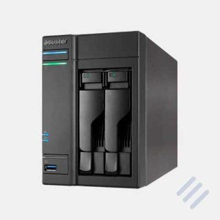 Asustor AS 602T 2 Bay NAS 2.13GHz 1GB Ram Bundle mit 2x: Computer & Zubeh�r